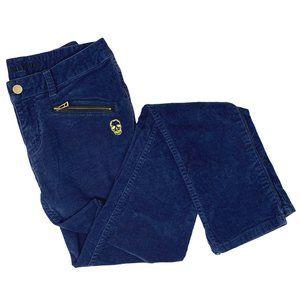 Zadig & Voltaire Corduroy Blue Pants Zip Pocket
